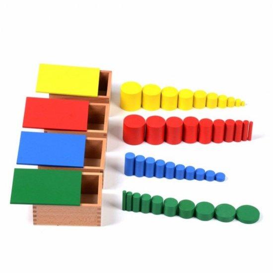 Цилиндри без дръжки, премиум - Монтесори материали