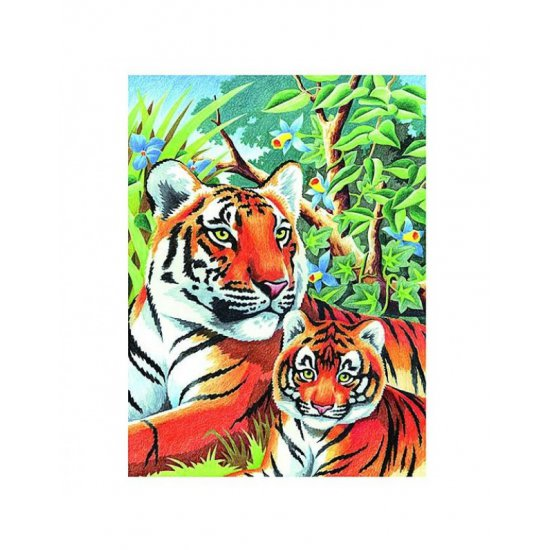 Рисуване по номера - Тигри