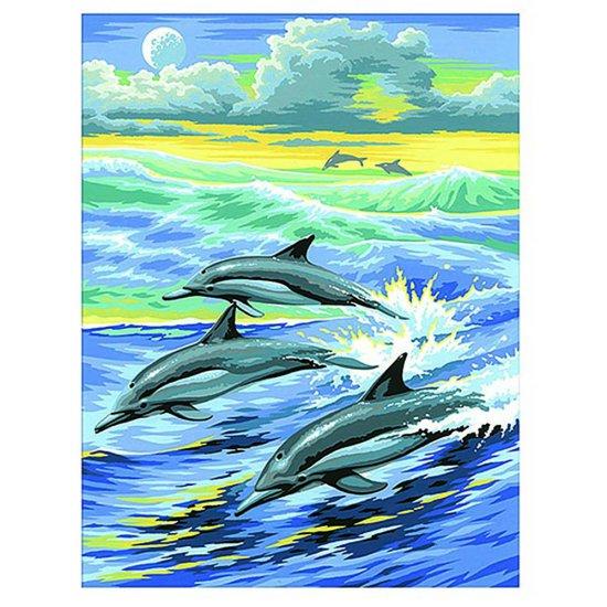 Рисуване по номера - Делфини