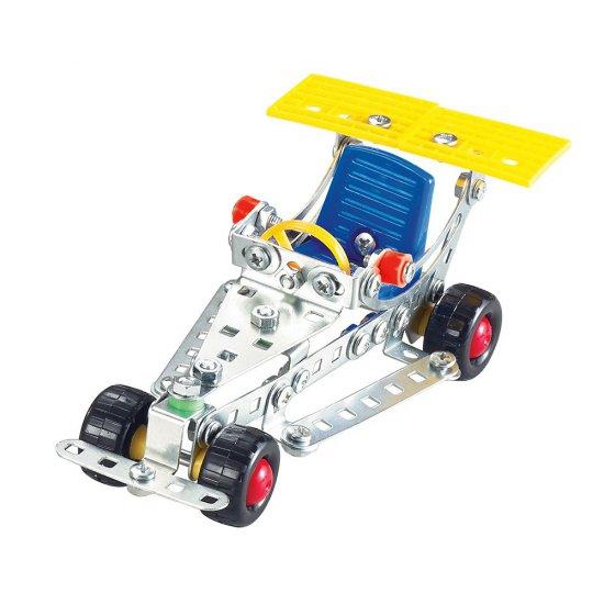 Метален конструктор, Състезателна кола, 120 части, Silver Serie