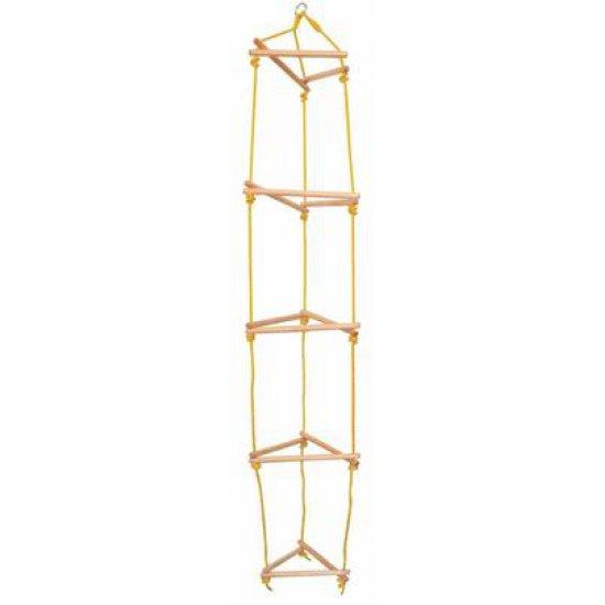 Тройна дървена въжена стълба