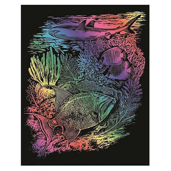 Гравиране на цветна основа - Морско дъно