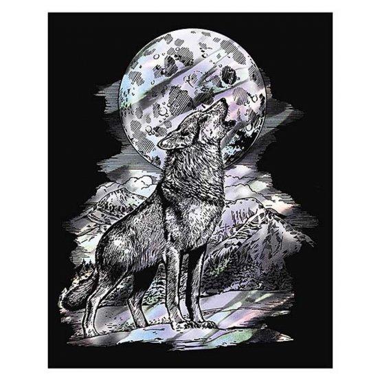 Гравиране на холограмна основа - Вълк