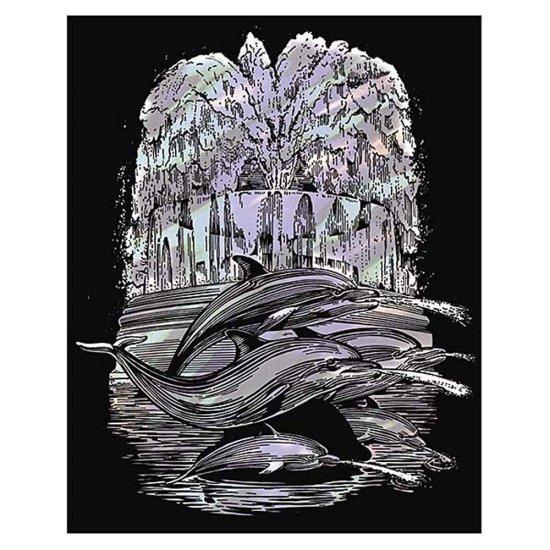 Гравиране на холограмна основа - Делфини