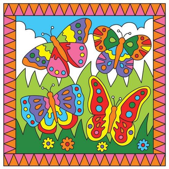 Комплект за рисуване по номера - Пеперуди и жабки