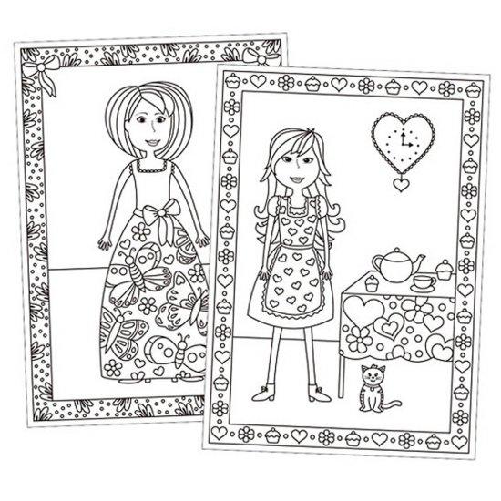 Книжка за оцветяване - Модерни момичета