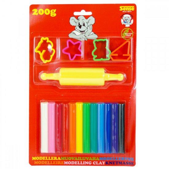 Пластелин - 12 цвята + инструменти