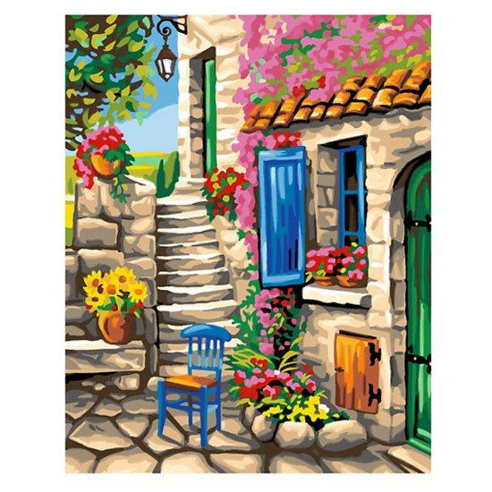 Рисуване по номера с 30 бр. боички - На двора