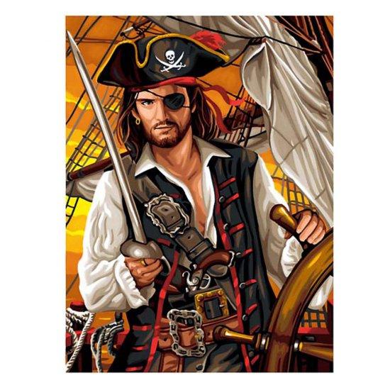 Рисуване по номера с акрилни бои - Пират