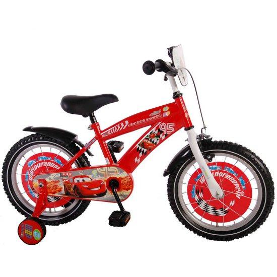 Детски велосипед с помощни колела - Дисни Колите, 16 инча