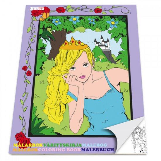 Книжка за оцветяване - Принцеси