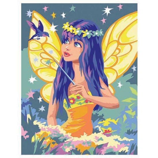 Рисуване по номера с акрилни бои - Златна фея