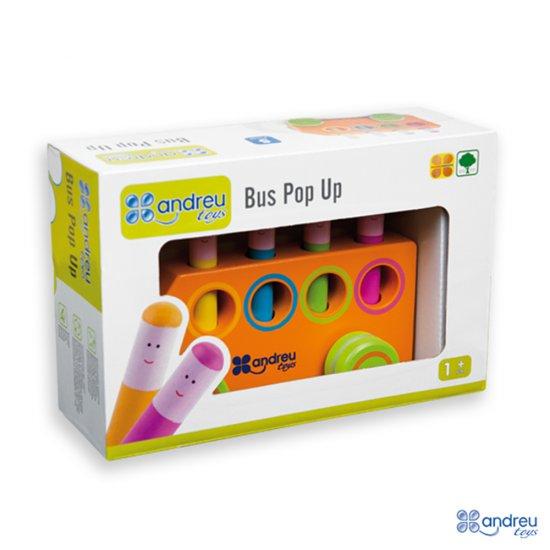 """Дървена игра """"Нагоре, надолу"""" - автобус"""