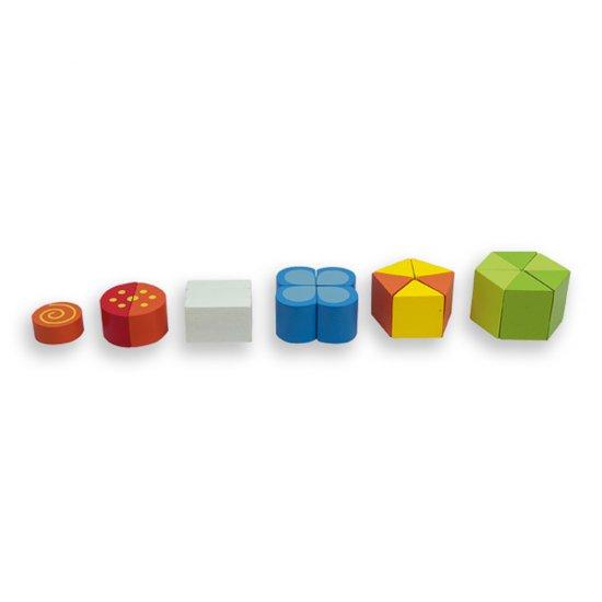 Дървен пъзел - цифри, форми и цветове