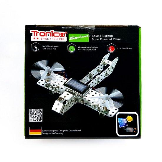 Метален конструктор със соларна батериия, Самолет, 129 части, Micro Series