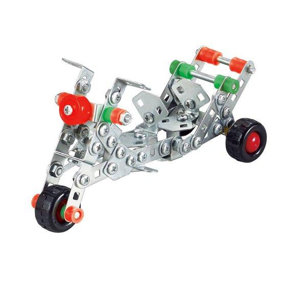Метален конструктор, Мотор, 159 части, Silver Serie