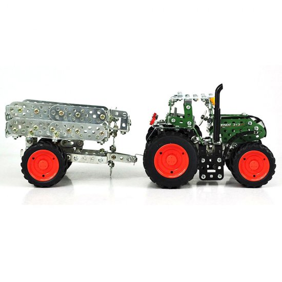 Метален конструктор, Мини серия, Трактор с ремарке, FENDT 313 VARIO