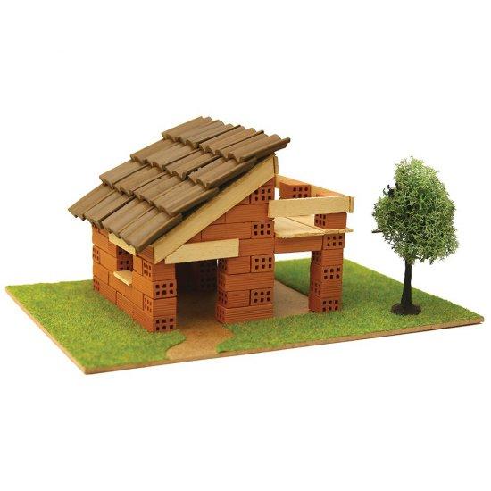 Къща за сглобяване с истински тухли, комплект за начинаещи 3