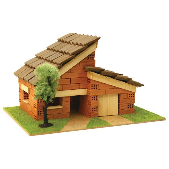 Къща за сглобяване с истински тухли, комплект за начинаещи 5