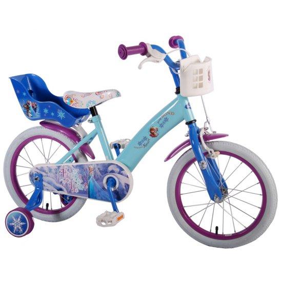 Детски велосипед с помощни колела - Дисни Frozen, 16 инча