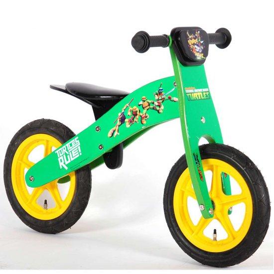 Детско дървено колело за баланс - Костенурките Нинджа, 12 инча