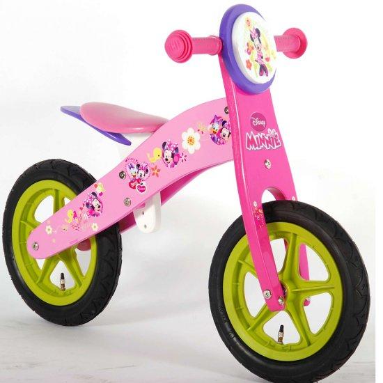 Дървено колело за баланс Дисни Мини Маус, 12 инча