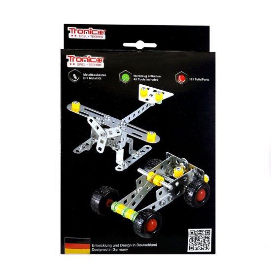 Метален конструктор, Самолет и Кола, 2 в 1, Silver Serie