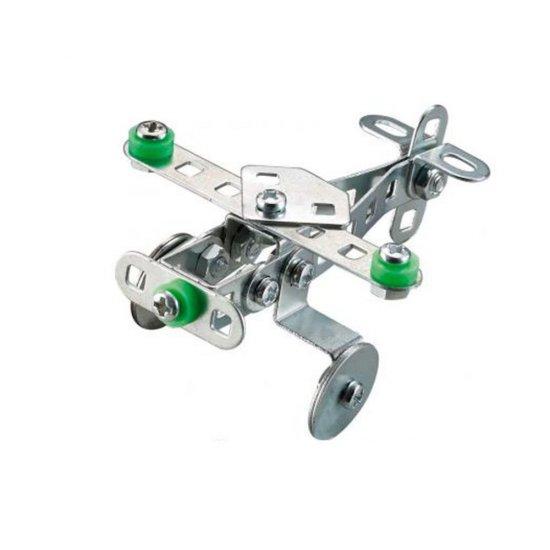 Метален конструктор, Самолет, 42 части, Silver Serie