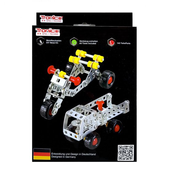 Метален конструктор, Мотор и Камион, 2 в 1, Silver Serie