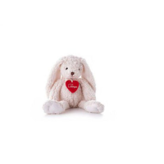Плюшено бяло зайче, Джули, 20 см