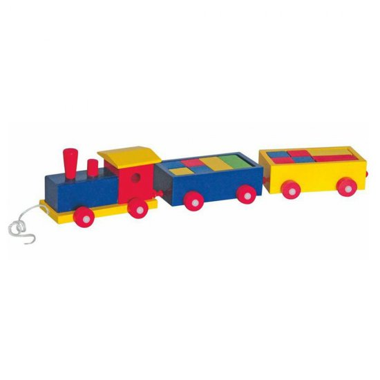 Дървен влак с 2 вагона - Доминик