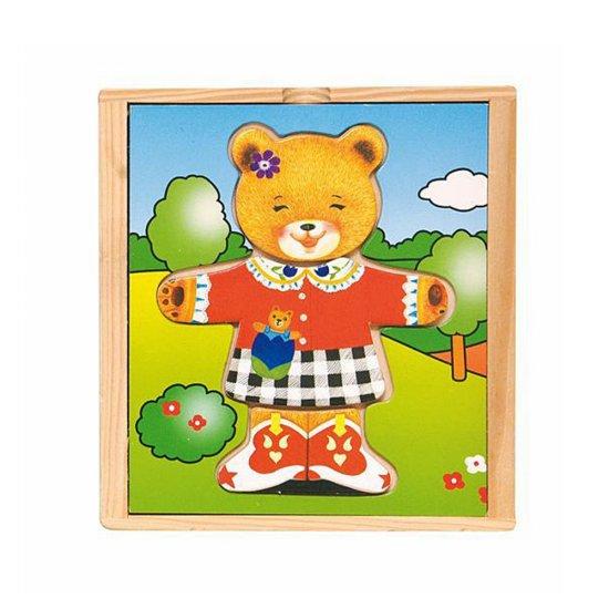 Детска дървена игра - Дрехите на мама Меца