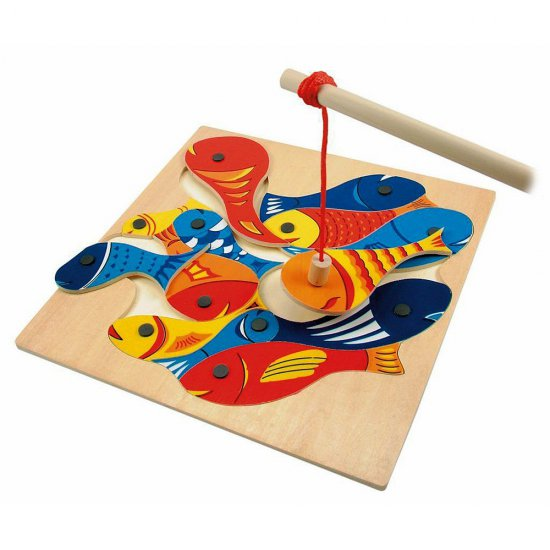 Дървена игра - Голям магнитен риболов