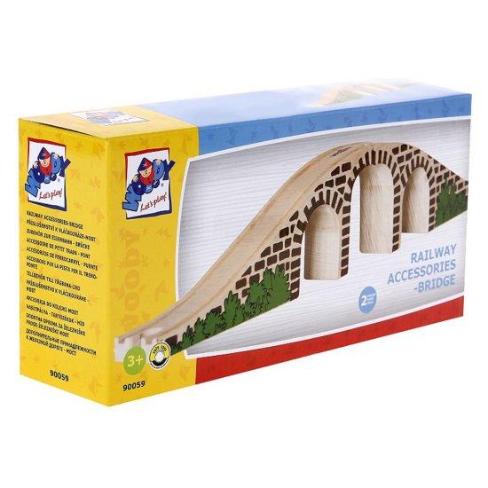 Дървен мост за влакче с релси