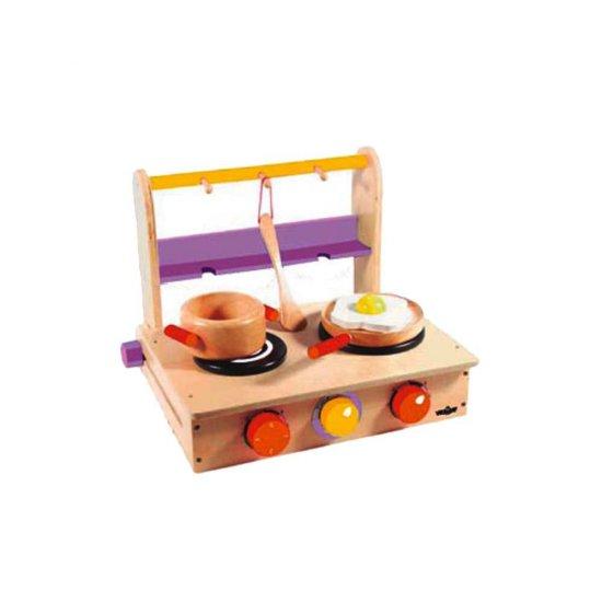 Дървена печка с два котлона