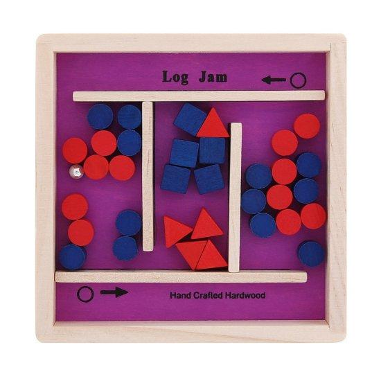 Дървена игра лабиринт в лилаво