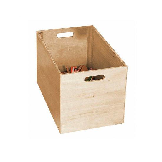 Дървено влакче с релси в дървена кутия - 170 части