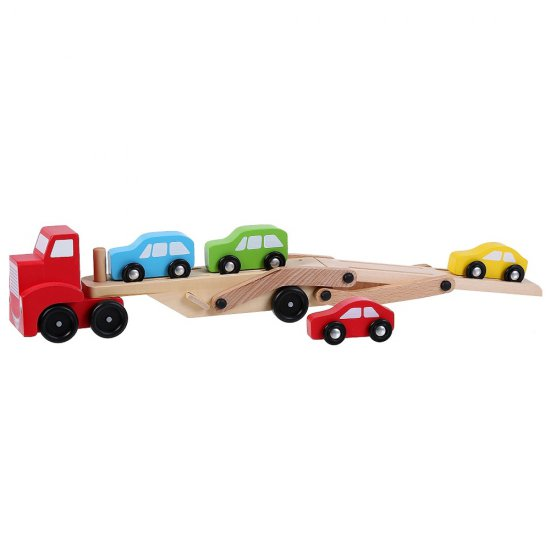 Дървен камион с автовоз