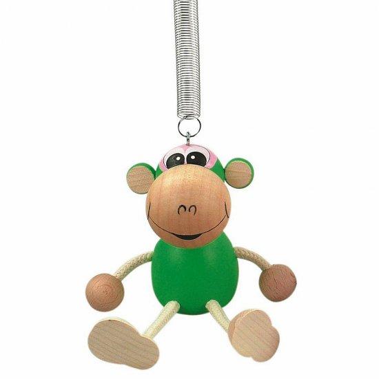 Дървена играцхка на пружина - Маймунка