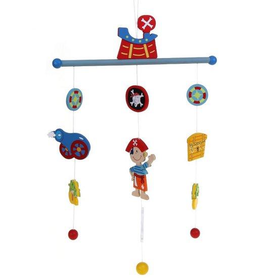 """Бебешка висяща дървена играчка """"Вълшебна приказка"""" - Пирати"""