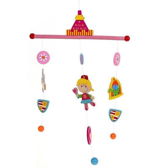 """Бебешка висяща дървена играчка """"Вълшебна приказка"""" - Принцеси"""