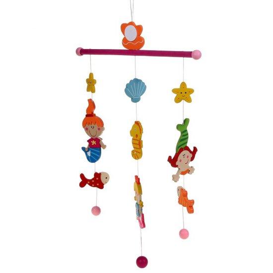 """Бебешка висяща дървена играчка """"Вълшебна приказка"""" - Русалки"""