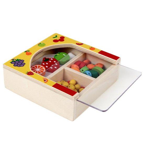 Дървени мъниста в кутия - Плодове