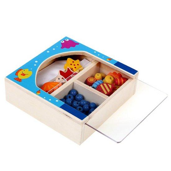 Дървени мъниста в кутия - Морско дъно