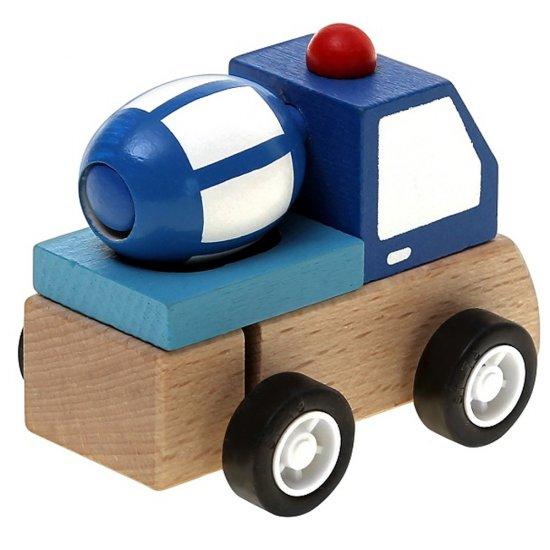 Дървена количка с механизъм - Бетоновоз