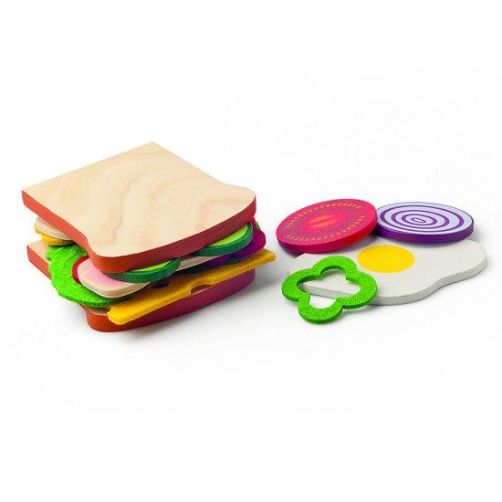Дървен комплект - Направи си сандвич