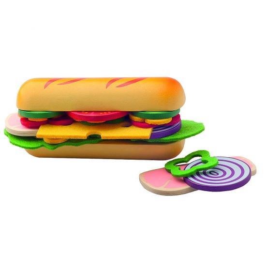 Дървен комплект - Направи си сандвич с багета