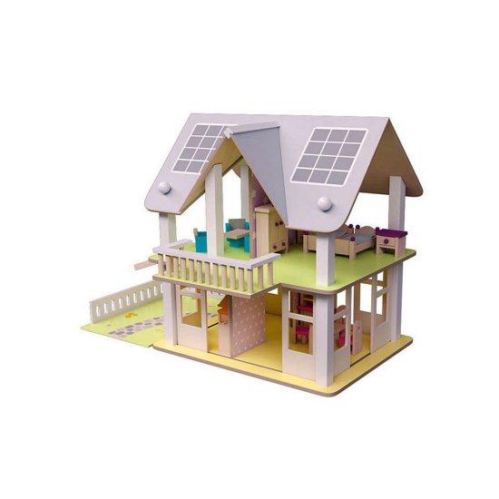 """Дървена еко-къща с балкон """"Нанси"""""""