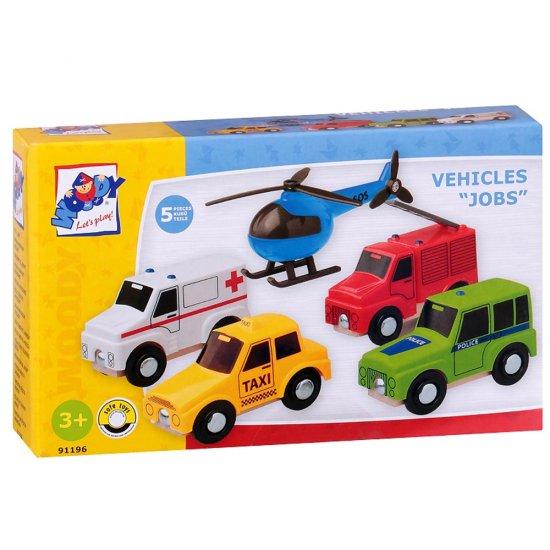 Превозни средства - такси, линейка, полиция, пожарна и хеликоптер