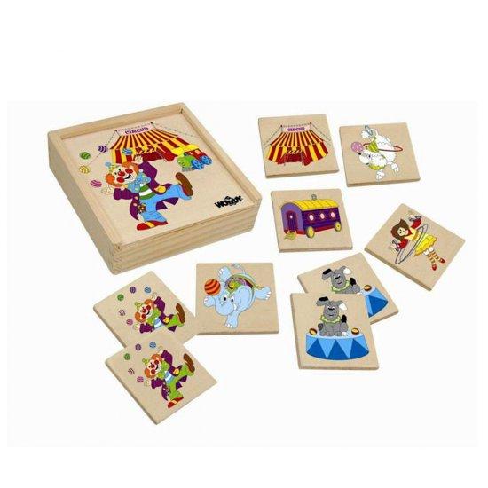 Дървена игра за памет - Цирк